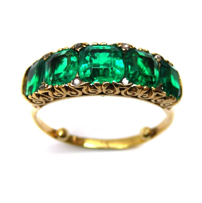 Antique five stone emerald ring | MasterArt