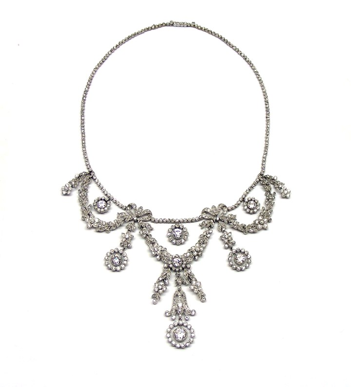 Belle Epoque diamond garland necklace