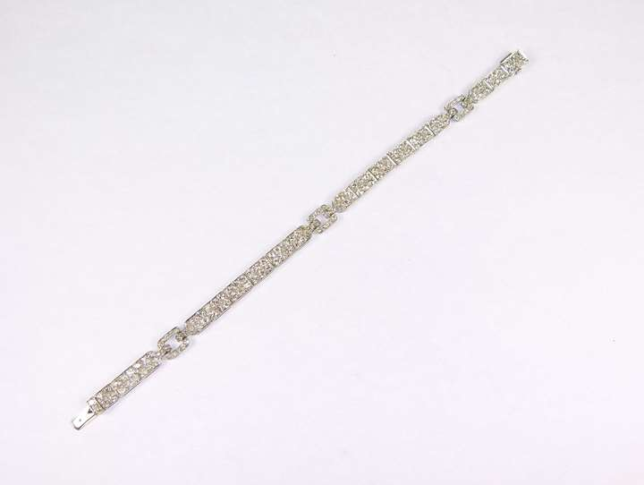 Diamond set slim strap bracelet by Cartier