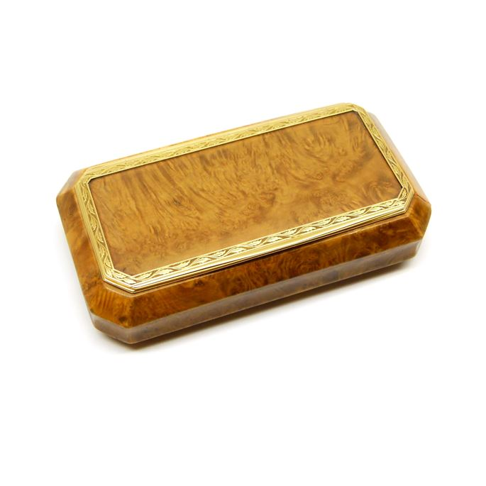 Martin-Guillaume Biennais - Directoire period gold mounted wood box | MasterArt