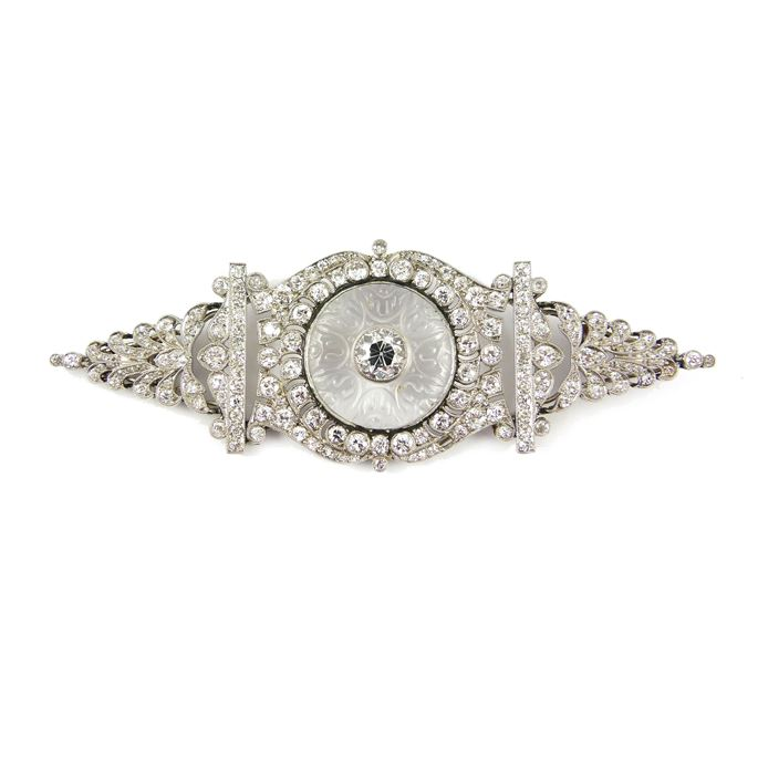 Cartier - Early 20th century diamond and rock crystal brooch | MasterArt