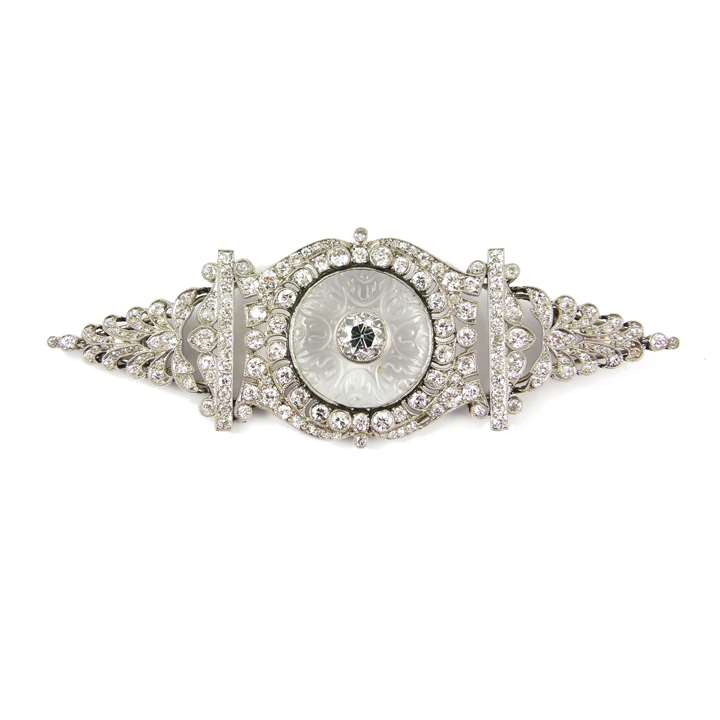 Early 20th century diamond and rock crystal brooch