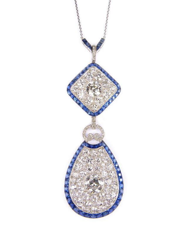 Diamond and sapphire pendant, formerly belonging to Cornelia, Countess of Craven | MasterArt
