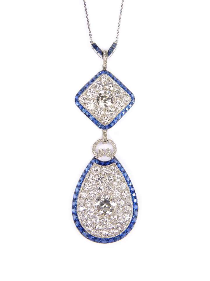 Diamond and sapphire pendant, formerly belonging to Cornelia, Countess of Craven