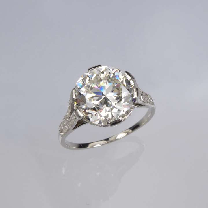 Early 20th century diamond ring, 5.46ct H VVS2