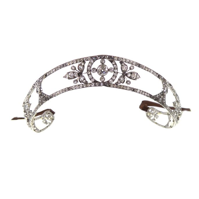 Early 20th century diamond set scrolling bandeau-tiara | MasterArt