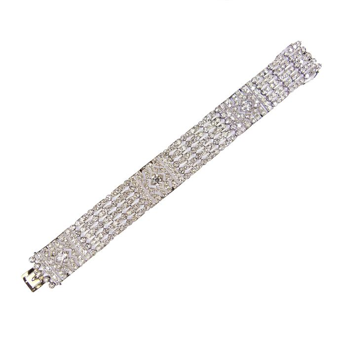 Lacloche - Early 20th century openwork diamond strap bracelet | MasterArt