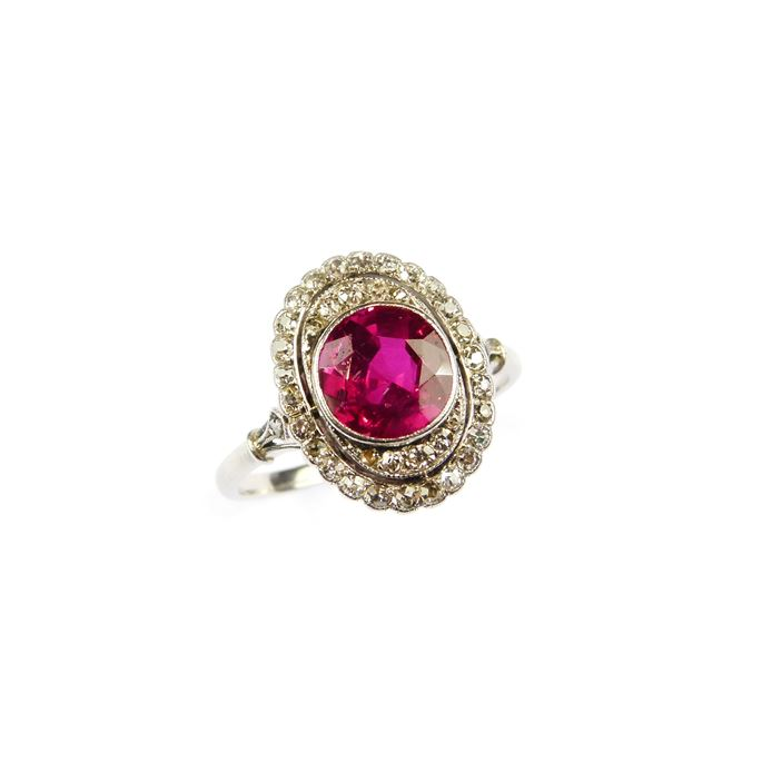 Ruby and diamond cluster ring | MasterArt