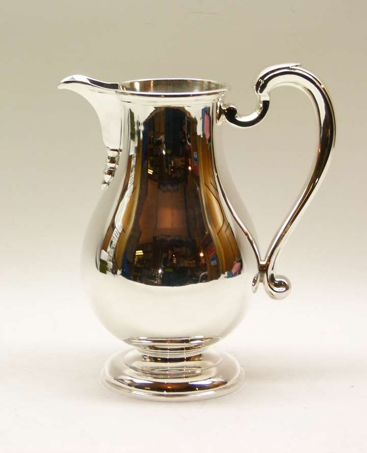 Edward VIII silver baluster shaped jug