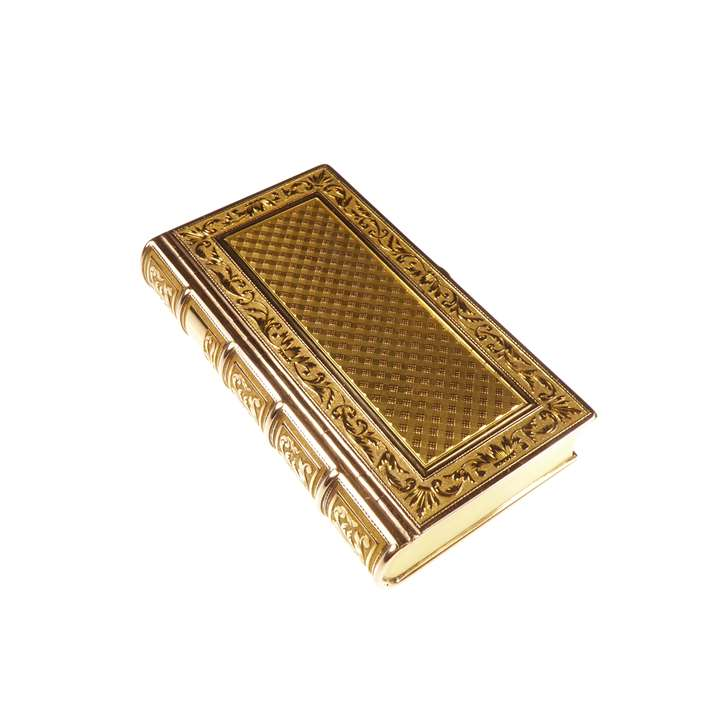 Empire French gold box in the form of a book