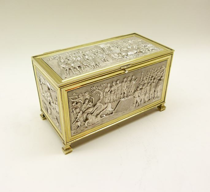 Empire French parcel gilt coffer form casket by Louis Ruschmann | MasterArt