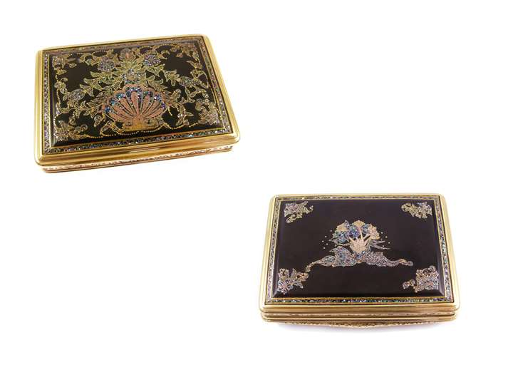 French Regence gold mounted pique and mother-of-pearl box