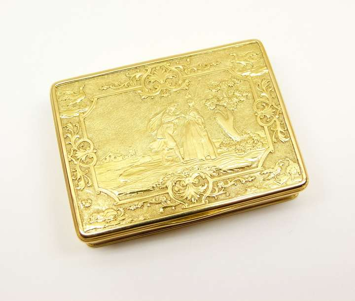 George I rectangular gold box
