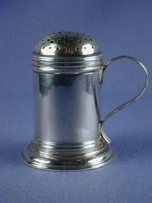 George II silver kitchen pepper by James Strang | MasterArt