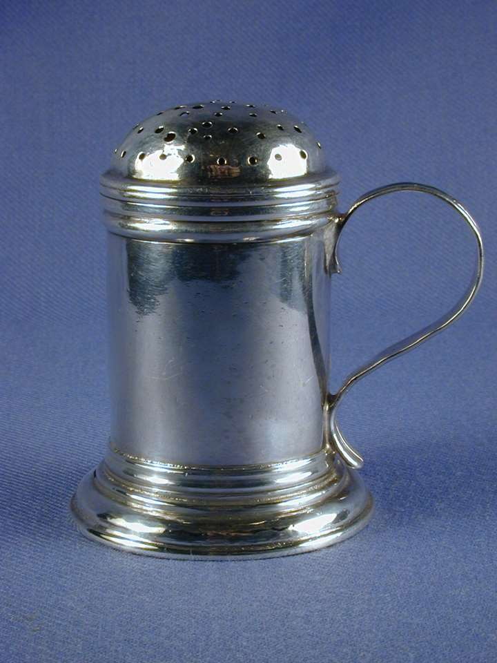 George II silver kitchen pepper by James Strang