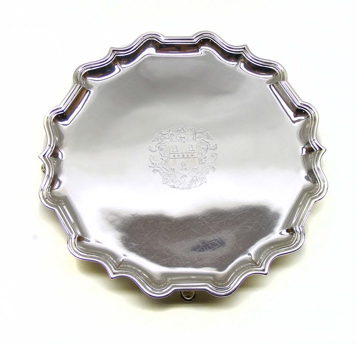 George II silver salver by Robert Abercromby