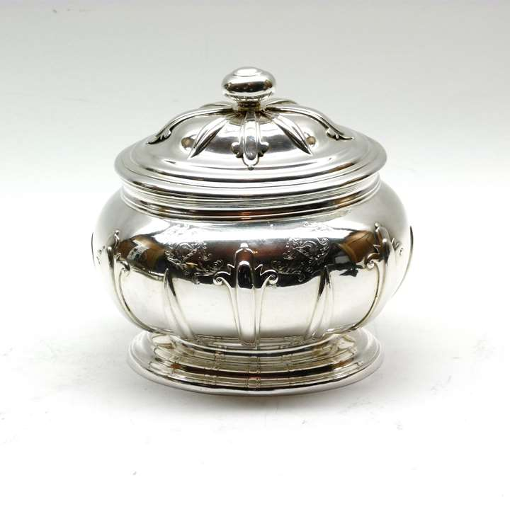 George II silver sugar box