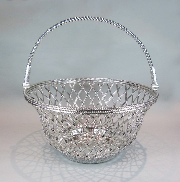 George III silver basket of round form