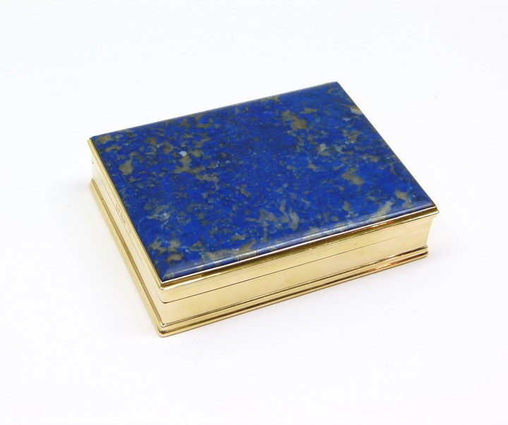 George IV 18ct gold and lapis lazuli box