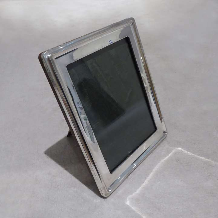 George V silver rectangular portrait photograph frame by A & J Zimmerman
