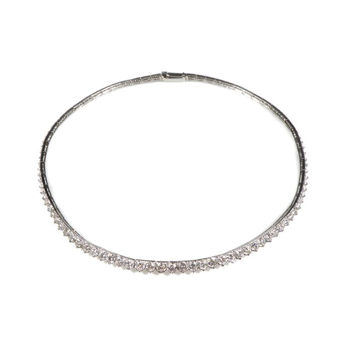 Cartier - Graduated diamond line collar necklace | MasterArt