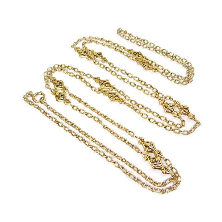 Late 19th century gold long chain