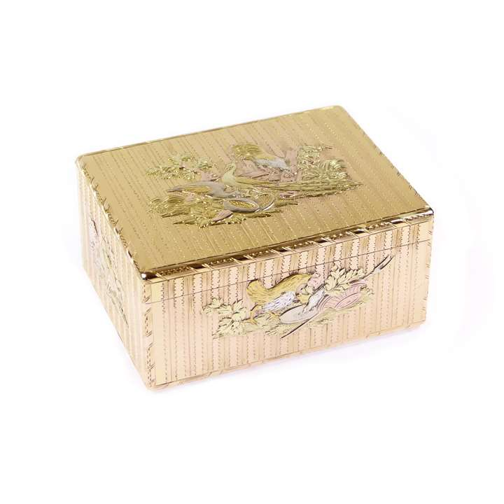 Louis XV coloured gold rectangular box