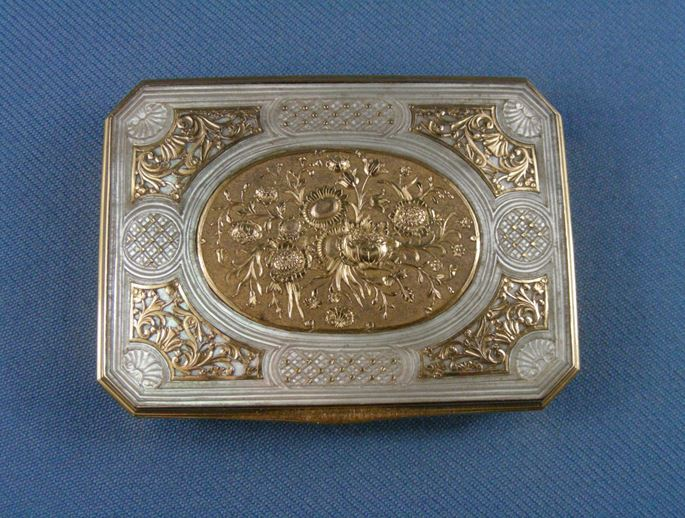 Louis XV gold mounted mother-of-pearl box | MasterArt