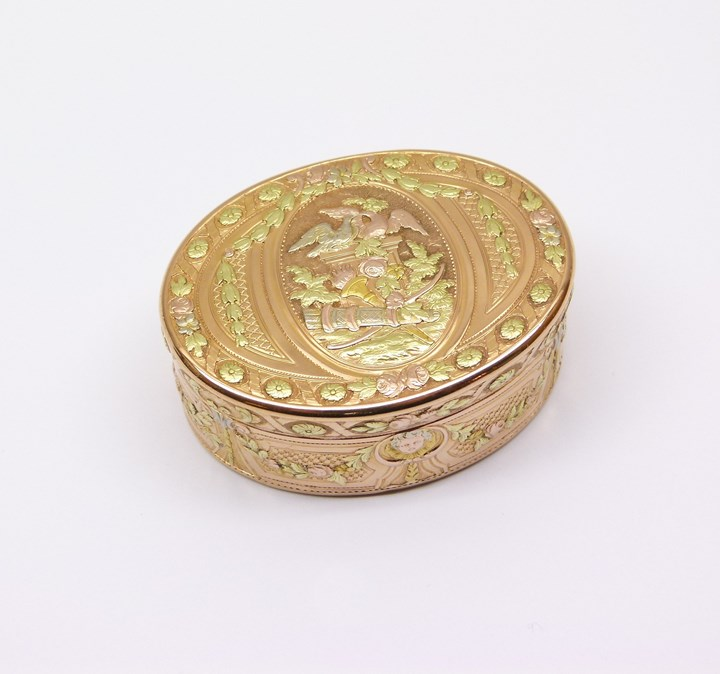 Louis XV oval coloured gold box