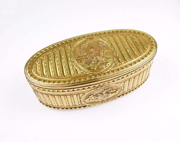 Louis XV oval gold box