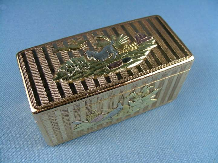 Louis XV vari colour gold rectangular box