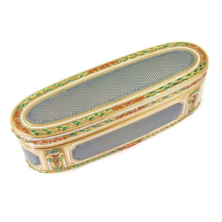 Louis XVI gold and enamel box