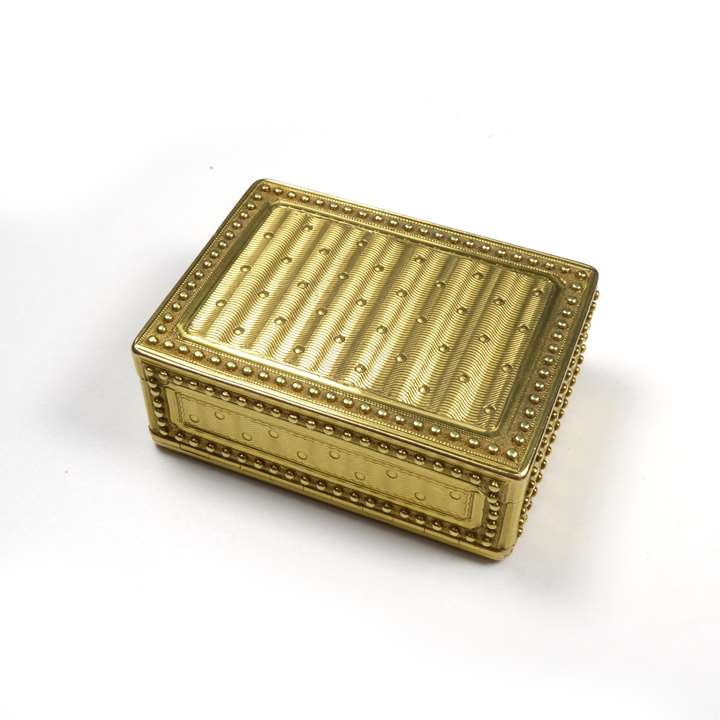 Louis XVI rectangular gold box