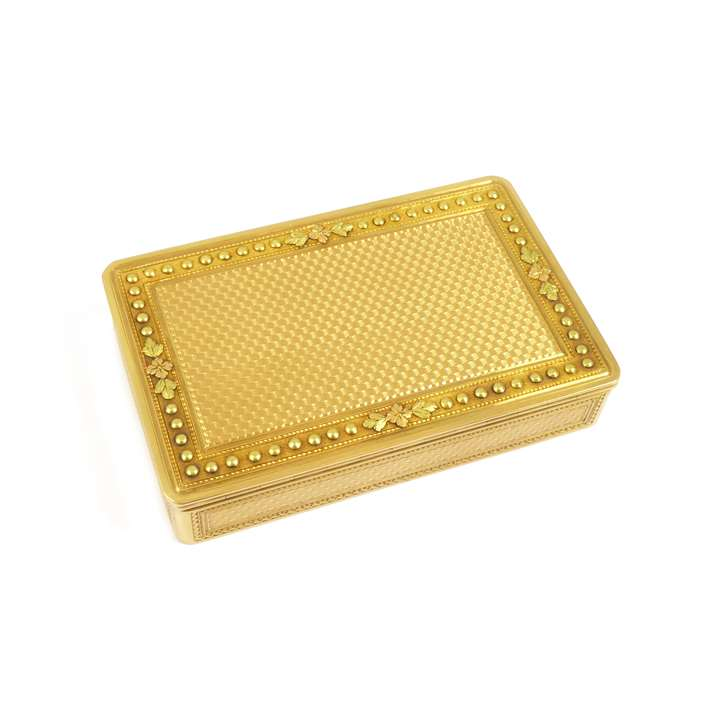 Louis XVI rectangular gold box by Claude Francois Thierry