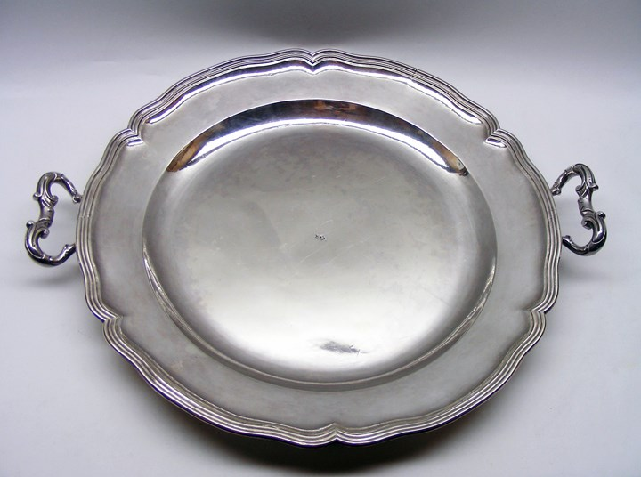 Mid-18th century Spanish large silver ragout dish