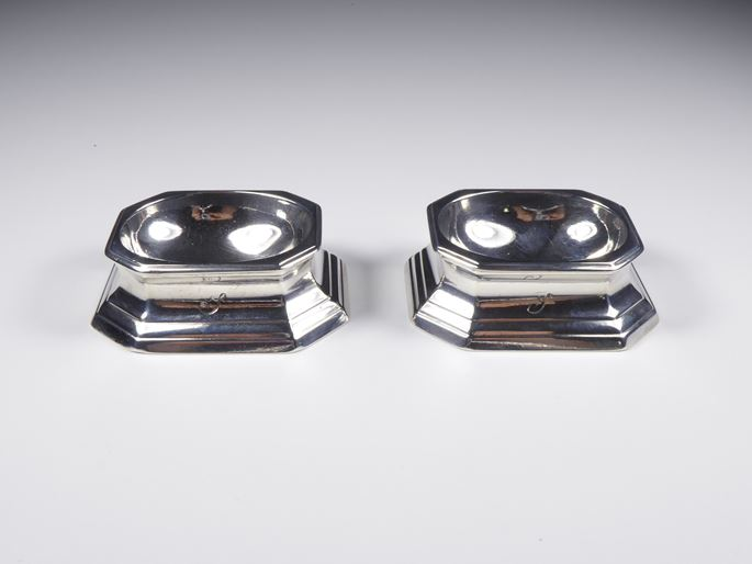 Pair of George II silver trencher salts   Assay Master Achibald Ure | MasterArt