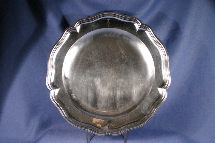 Pair of German silver meat dishes