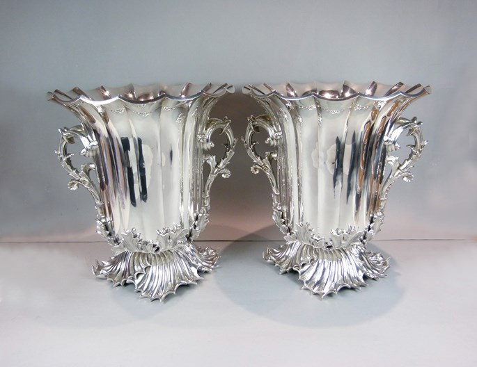 Benjamin Smith II - Pair of Victorian silver fluted wine coolers | MasterArt