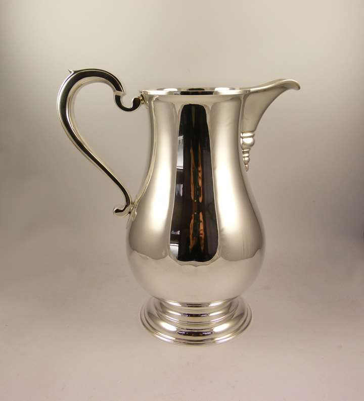 Silver baluster shaped jug