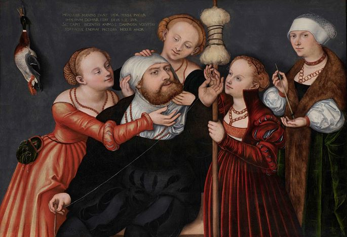 Lucas Cranach the Elder and Workshop - HERCULES AT THE COURT OF OMPHALE | MasterArt