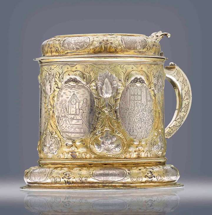 Silver Tankard with Ruler's Portraits