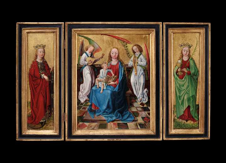 "Triptych ""Virgin and Child"""