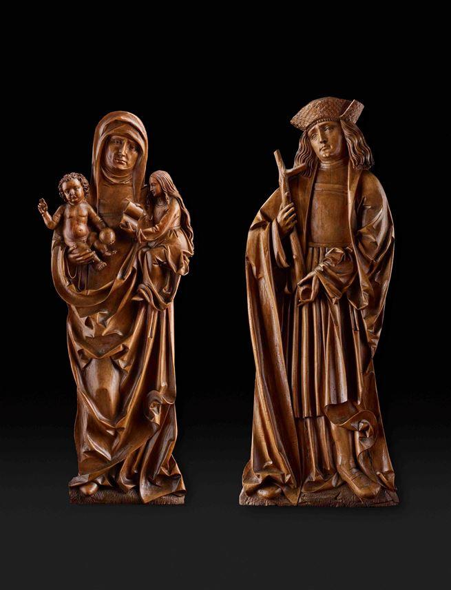Tilmann Riemenschneider - Virgin and Child with Saint Anne and Saint Agathius   MasterArt