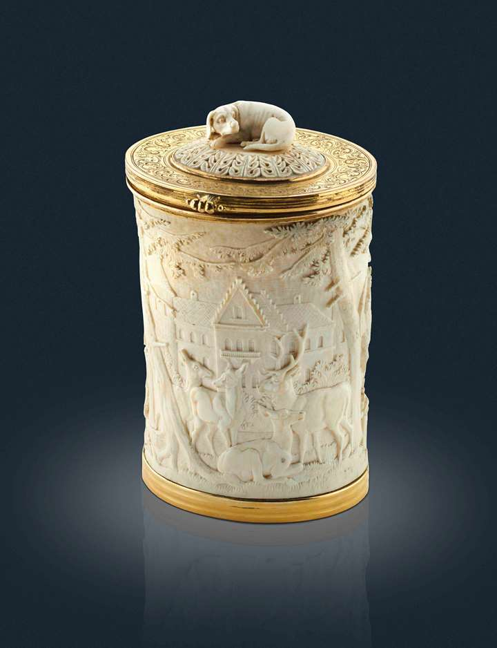 Ivory Cup with Hunting Scene