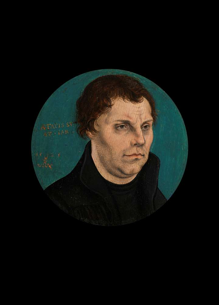 """Tondo of Martin Luther"""