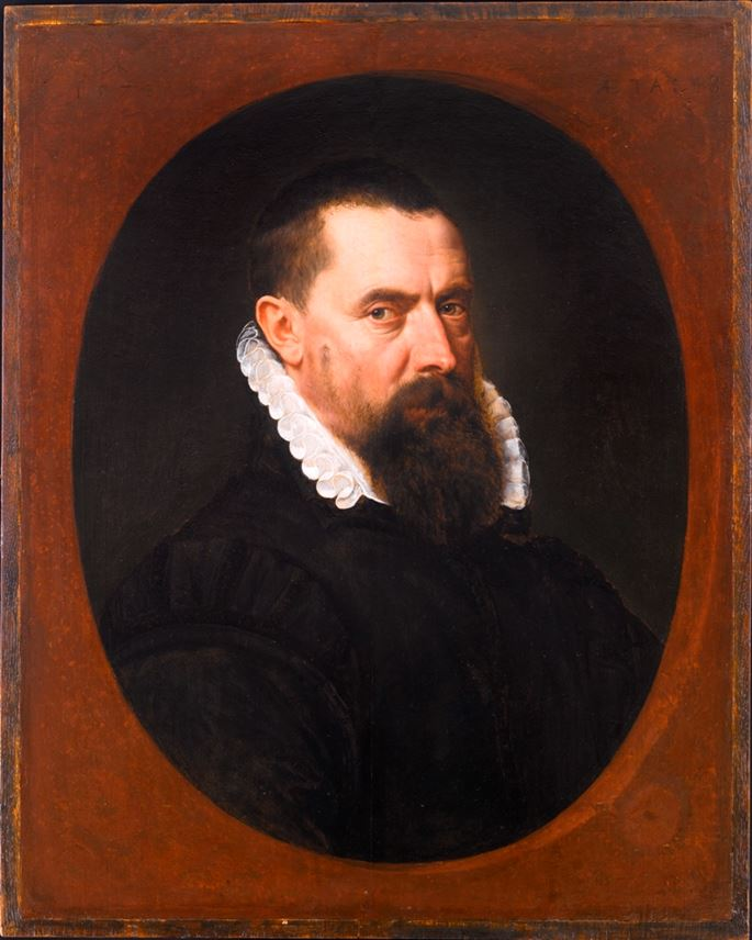 Adriaen Thomasz.  Key - Portrait of a Bearded Gentleman, Bust-Length, in a Black Doublet with a White Lace Ruff | MasterArt