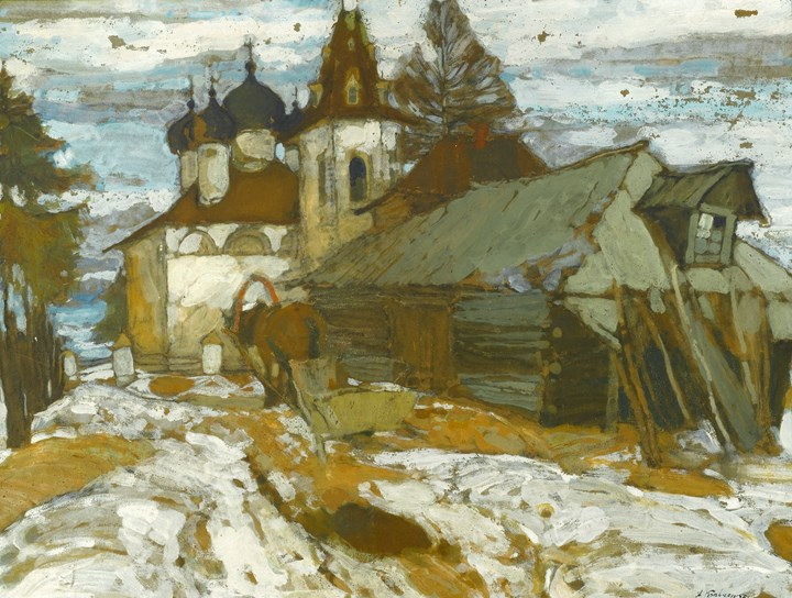 Russian Village in the Winter