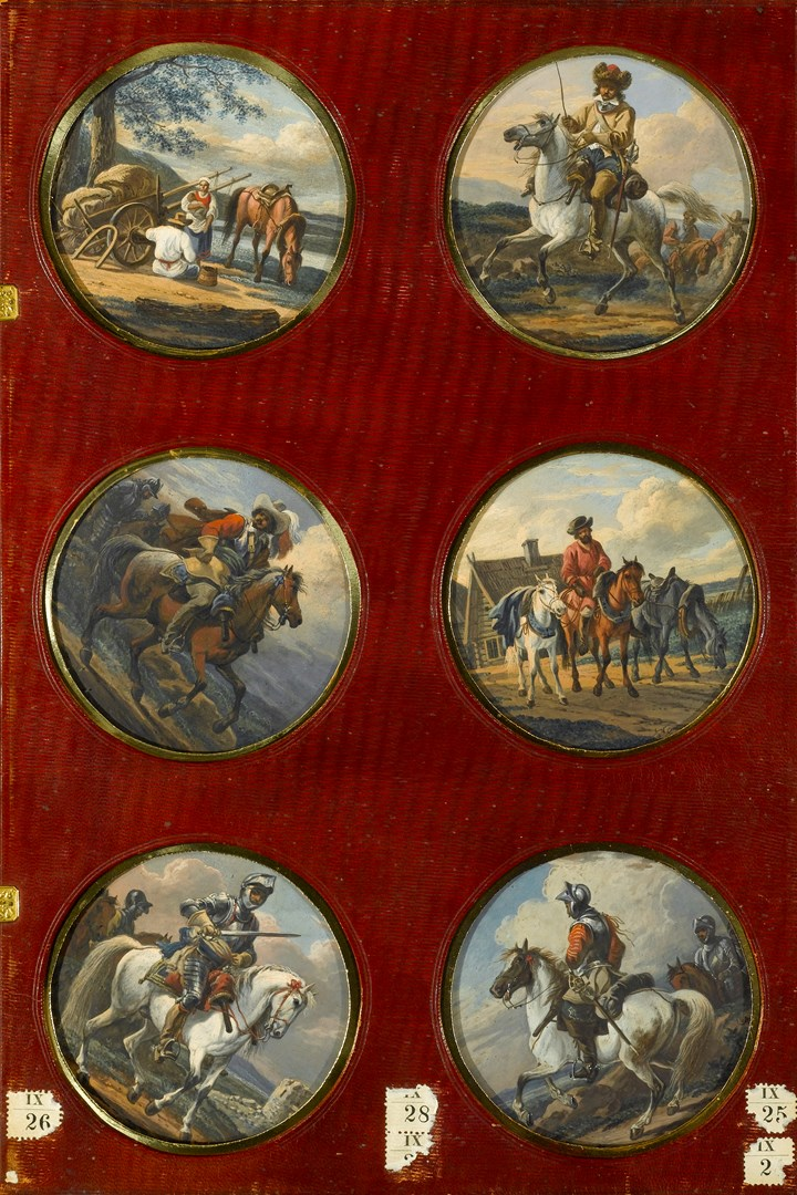 Six Roundels Depicting Horsemen