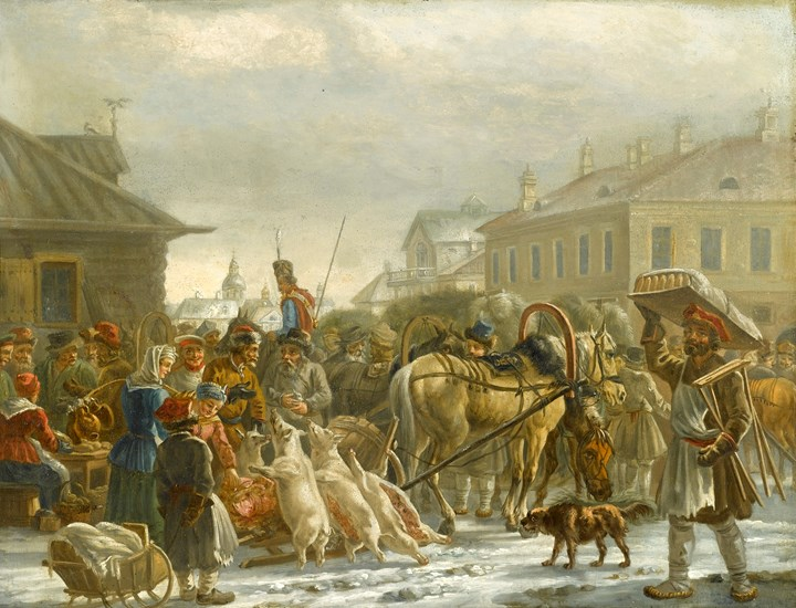 The Hay Market, St. Petersburg, 1820