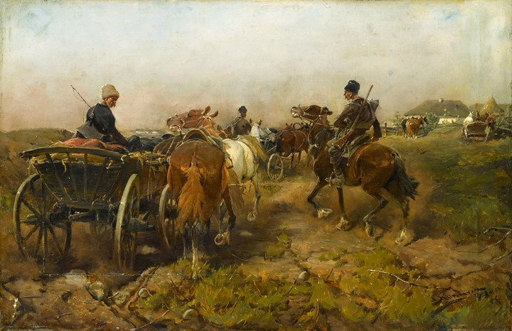 Cossacks Returning Home on Horseback
